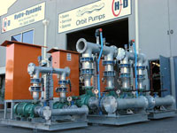 Water supply pumps for mine sites