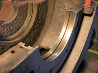 Closeup of Machined Wear Rings